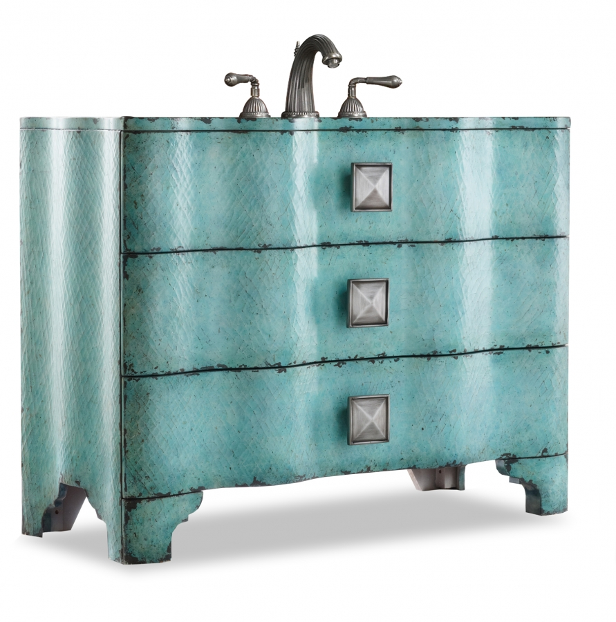 Inch Single Sink Bathroom Vanity With Turquoise