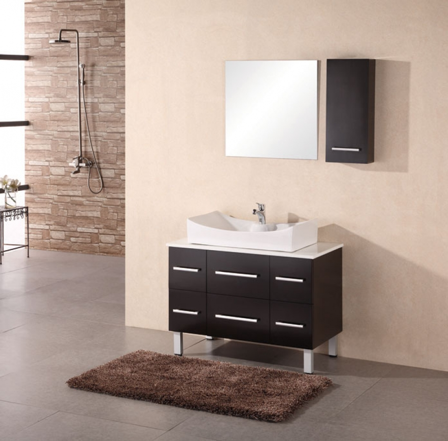 36 Inch Modern Single Sink Vanity In Espresso Uvde012a36