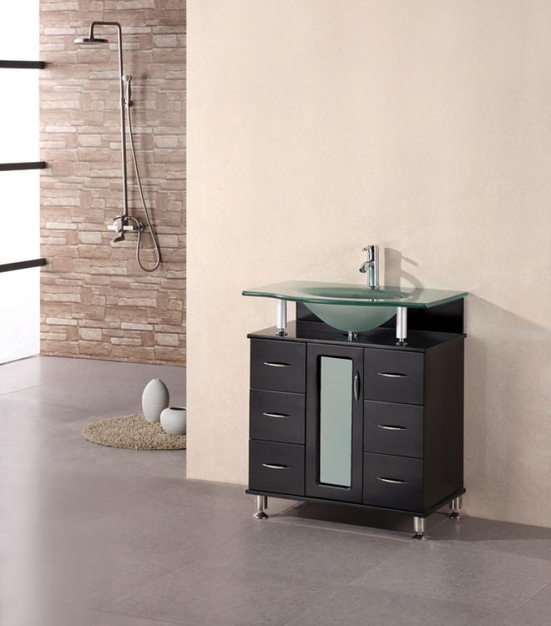 30 Inch Modern Single Sink Bathroom Vanity In Espresso
