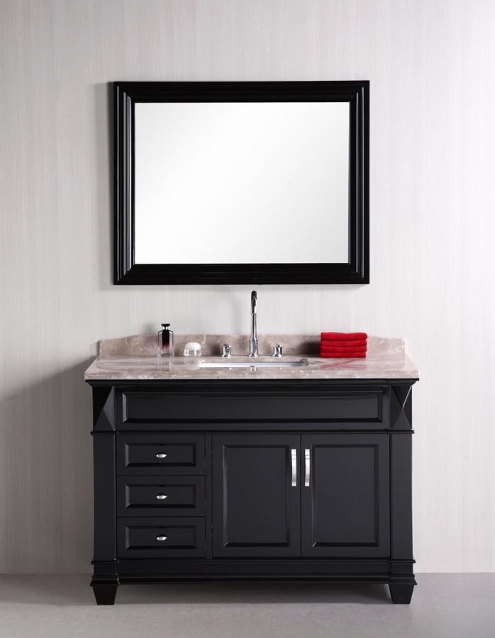 48 Inch Single Sink Bathroom Vanity With Badel Gray Marble Uvdedec059b48