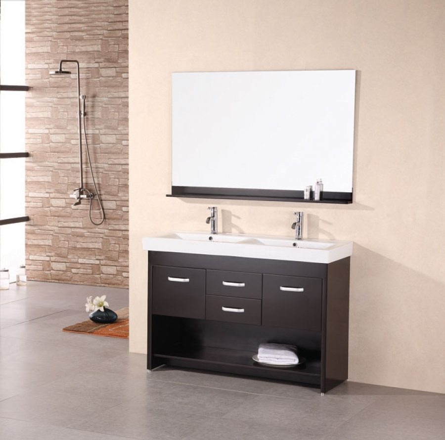 48 in double sink bathroom vanity 48 inch modern sink bathroom vanity in espresso 24768