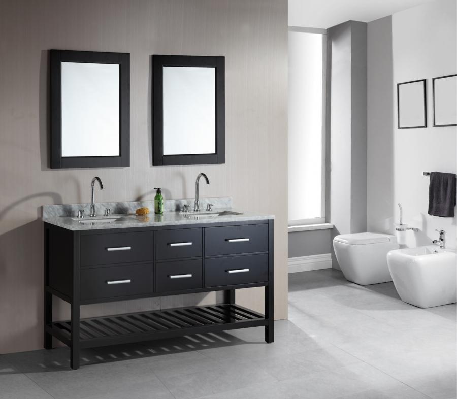 61 inch double sink bathroom vanity in espresso uvdedec077c60
