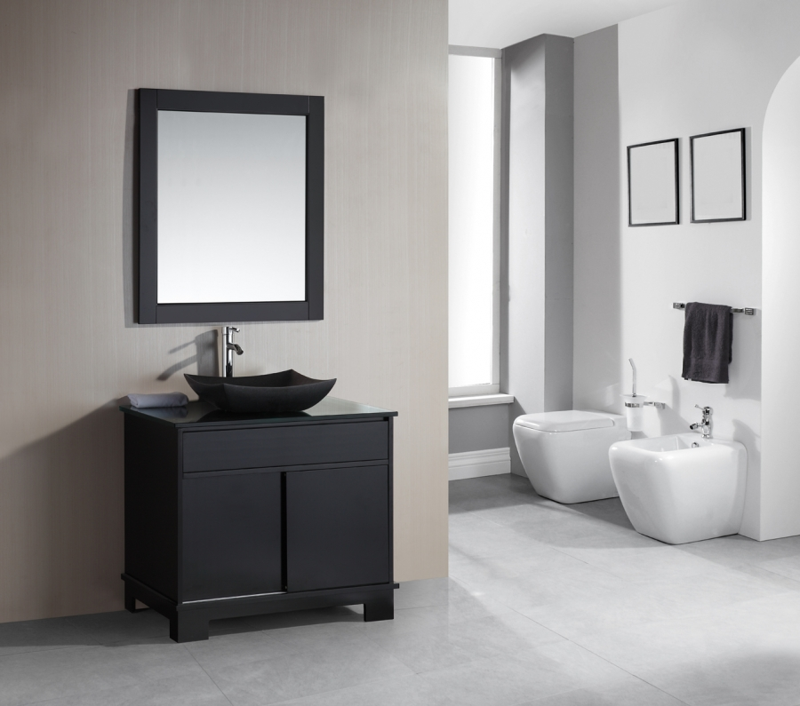 36 Inch Single Sink Bathroom Vanity with Built in LED Lighting UVDEDEC1053636 : bathroom sink cabinets with drawers - Cheerinfomania.Com