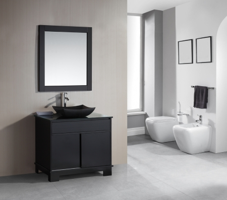36 Inch Single Sink Bathroom Vanity With Built In Led Lighting Uvdedec1053636
