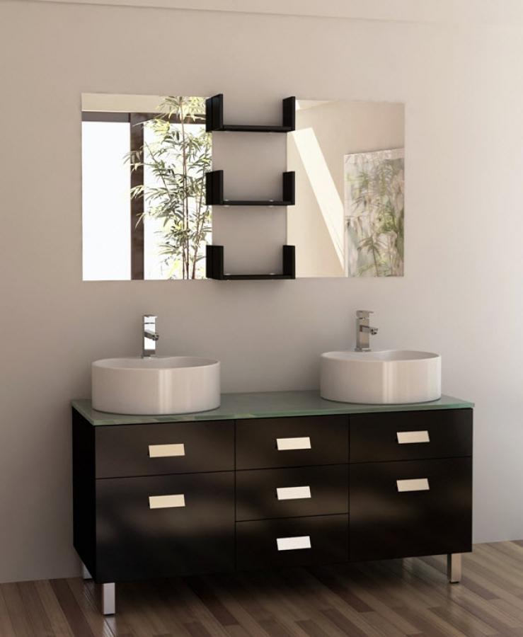 55 Inch Double Sink Vanity In Espresso Uvdedec35055