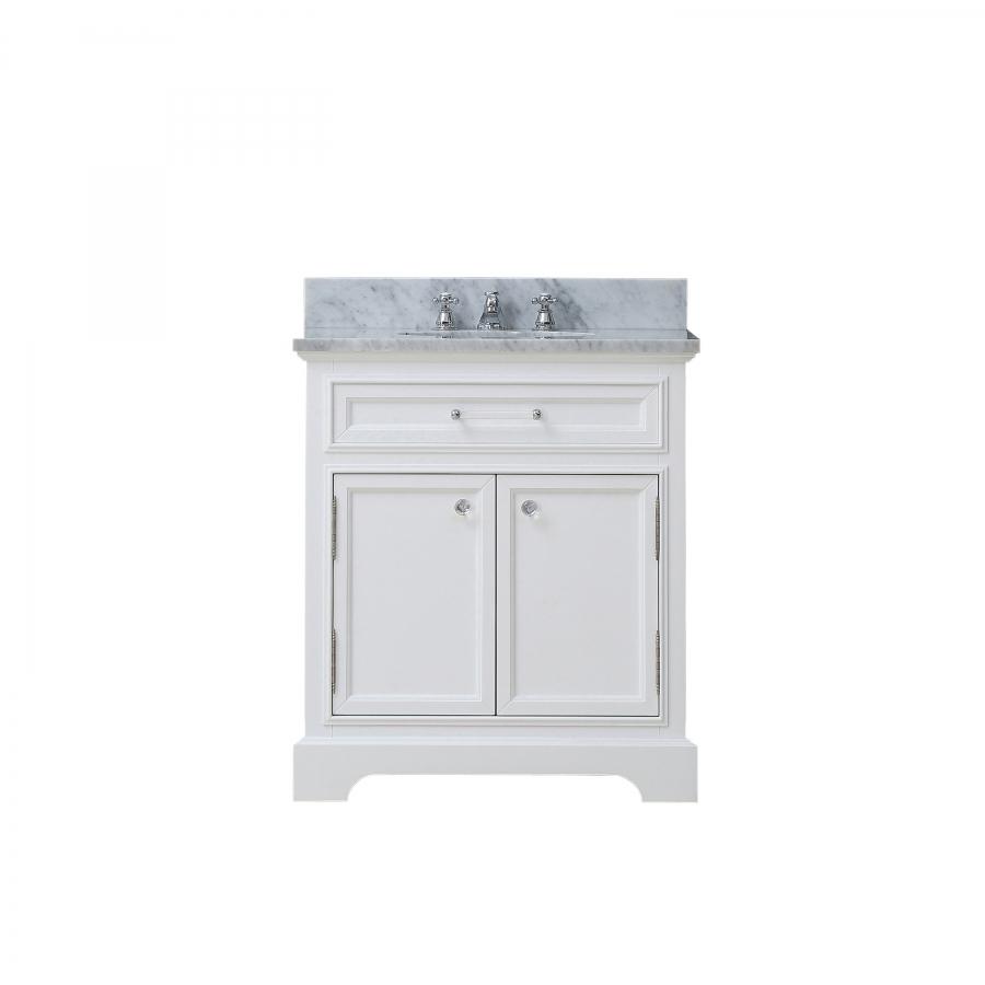 24 Inch Single Sink Bathroom Vanity In Pure White Uvwcderby24w
