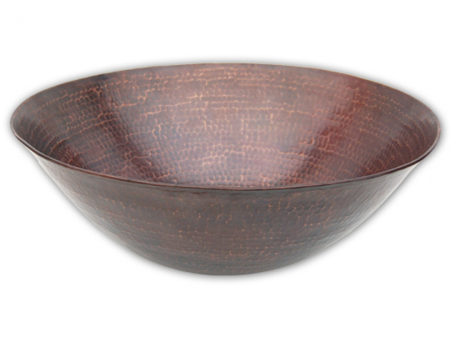 Round Hammered Surface Copper Vessel Sink UVEBC004