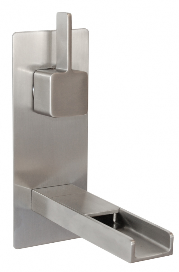 Cascada Waterfall Wall Mount Faucet In Brushed Nickel Uvebfm002wbn