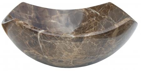 Arched Edges Dark Emperador Bowl Vessel Sink Uvebs027dep