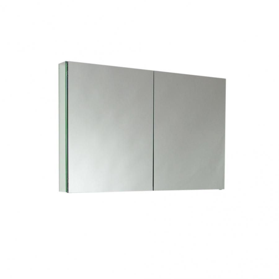 Two mirrored door medicine cabinet uvfmc8010 for Mirrored cabinet doors