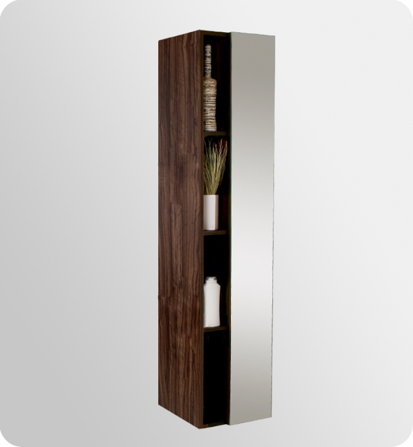 Bathroom Cubby Shelf: Walnut Bathroom Linen Cabinet With Cubby Holes UVFST8070GW