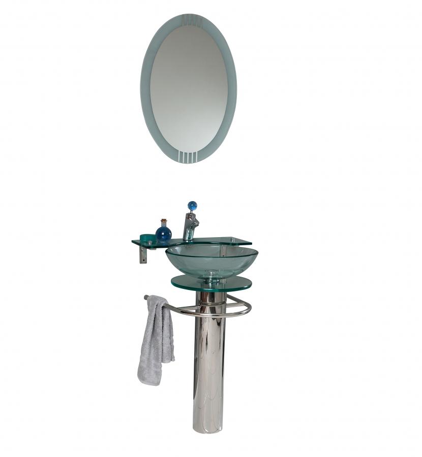 20 75 Inch Modern Pedestal Vessel Sink Bathroom Vanity Set On