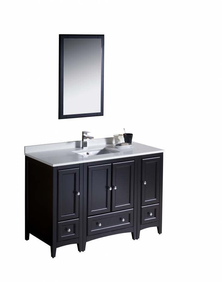 48 Inch Single Sink Bathroom Vanity In Espresso Uvfvn20122412es48