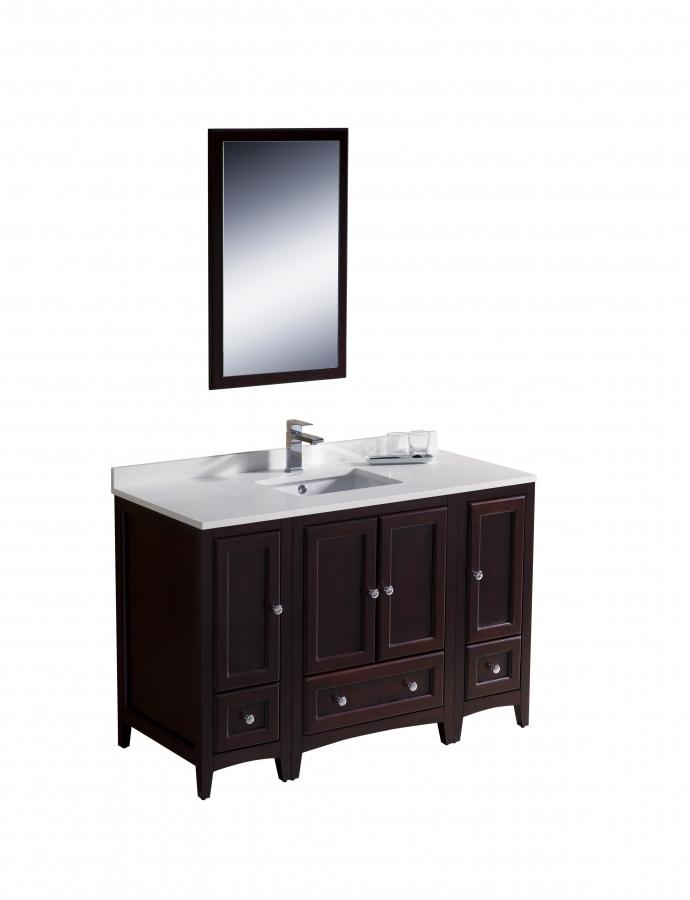 48 Bathroom Vanity With Top: 48 Inch Single Sink Bathroom Vanity In Mahogany