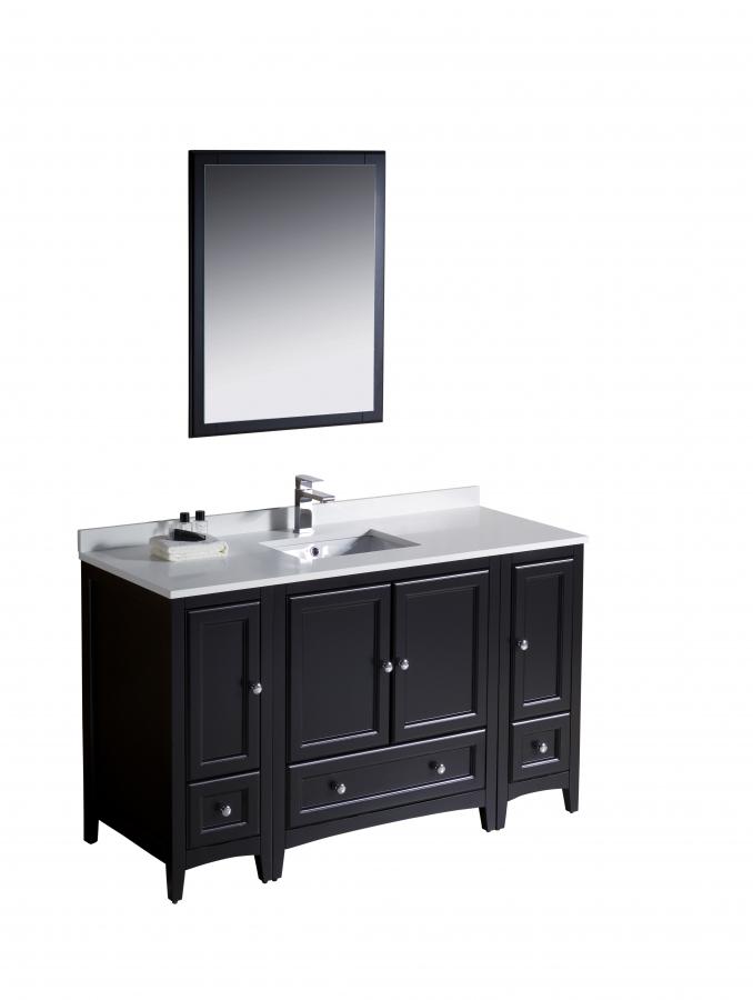 54 inch single sink bathroom vanity in espresso