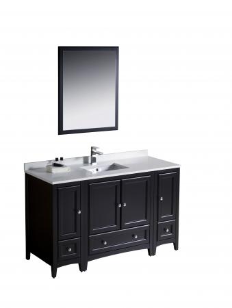 54 inch single sink bathroom vanity in espresso uvfvn20123012es54. Black Bedroom Furniture Sets. Home Design Ideas