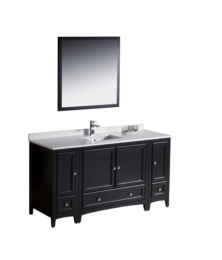 60 Inch Single Sink Bathroom Vanity In Espresso Uvfvn20123612es60