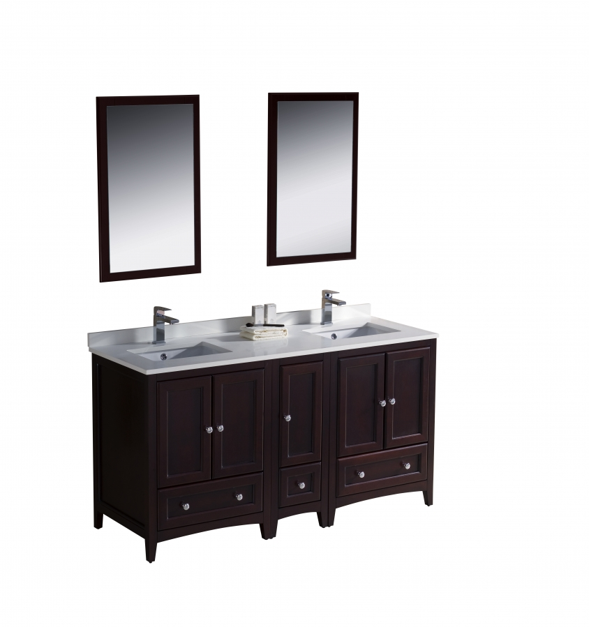 60 inch double sink bathroom vanity in mahogany uvfvn20241224mh60