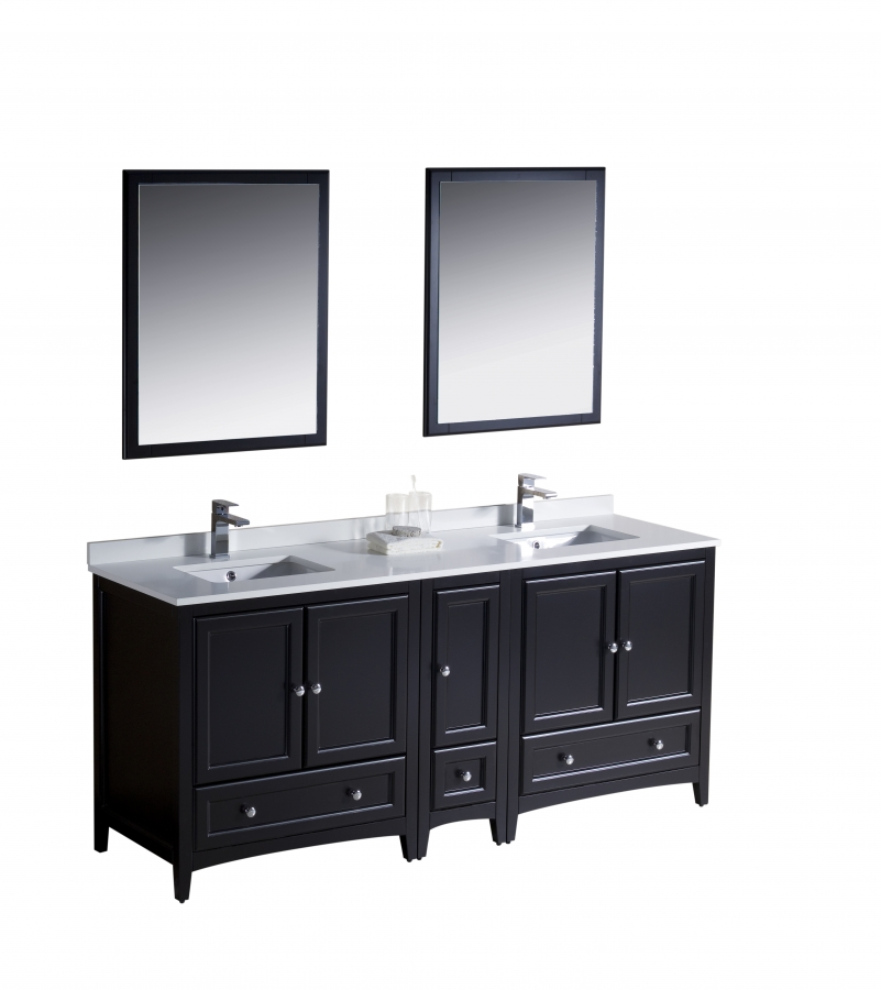 72 inch double sink bathroom vanity in espresso uvfvn20301230es72