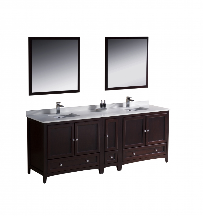 84 Inch Double Sink Bathroom Vanity In Mahogany Uvfvn20361236mh84