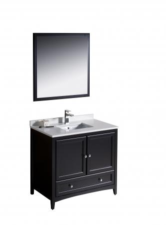 36 inch single sink bathroom vanity in espresso uvfvn2036es36 for 36 inch espresso bathroom vanity