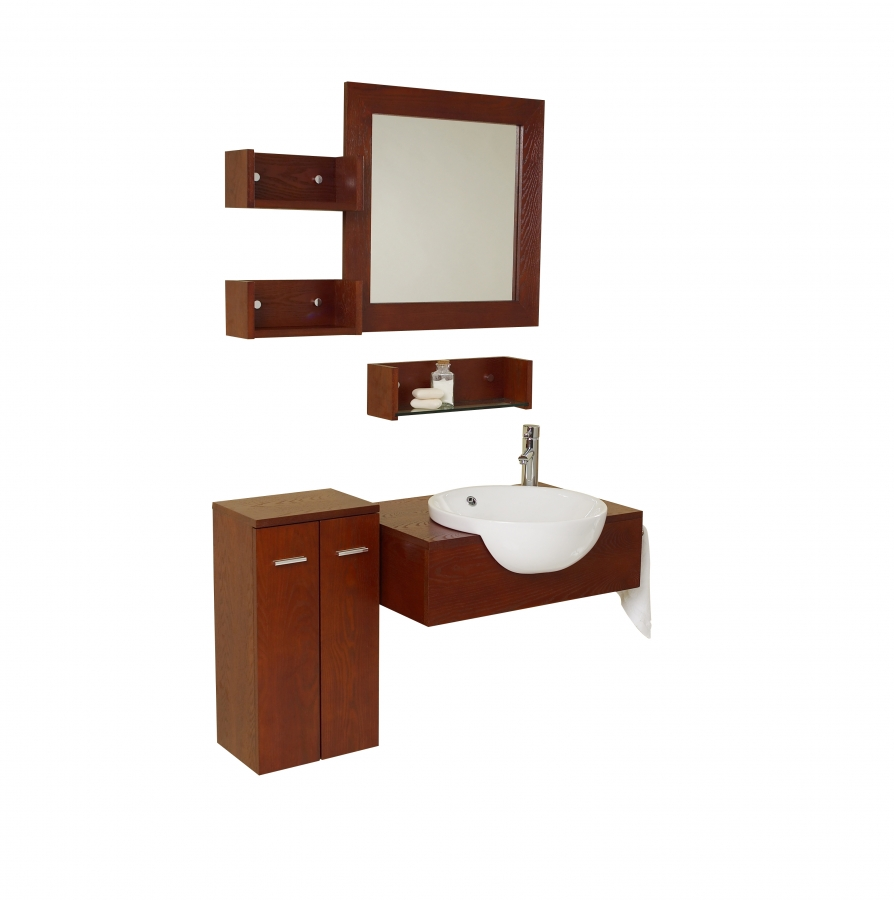 25 5 inch modern bathroom vanity with mirror side cabinet