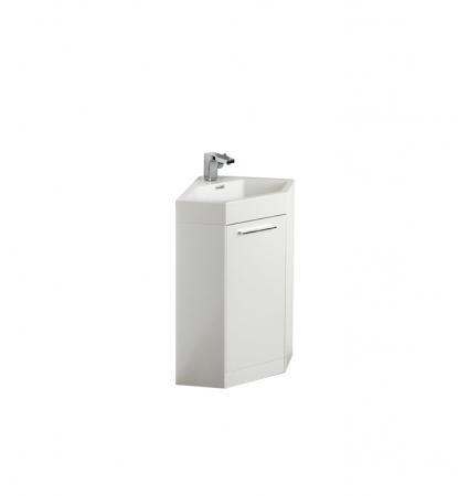 18 inch white modern corner bathroom vanity with optional medicine