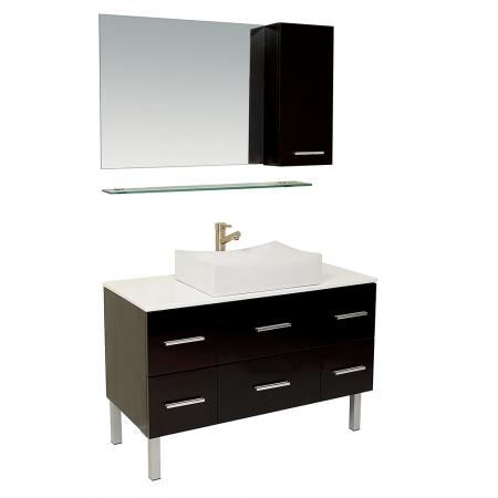 43 25 Inch Espresso Modern Bathroom Vanity With Mirror
