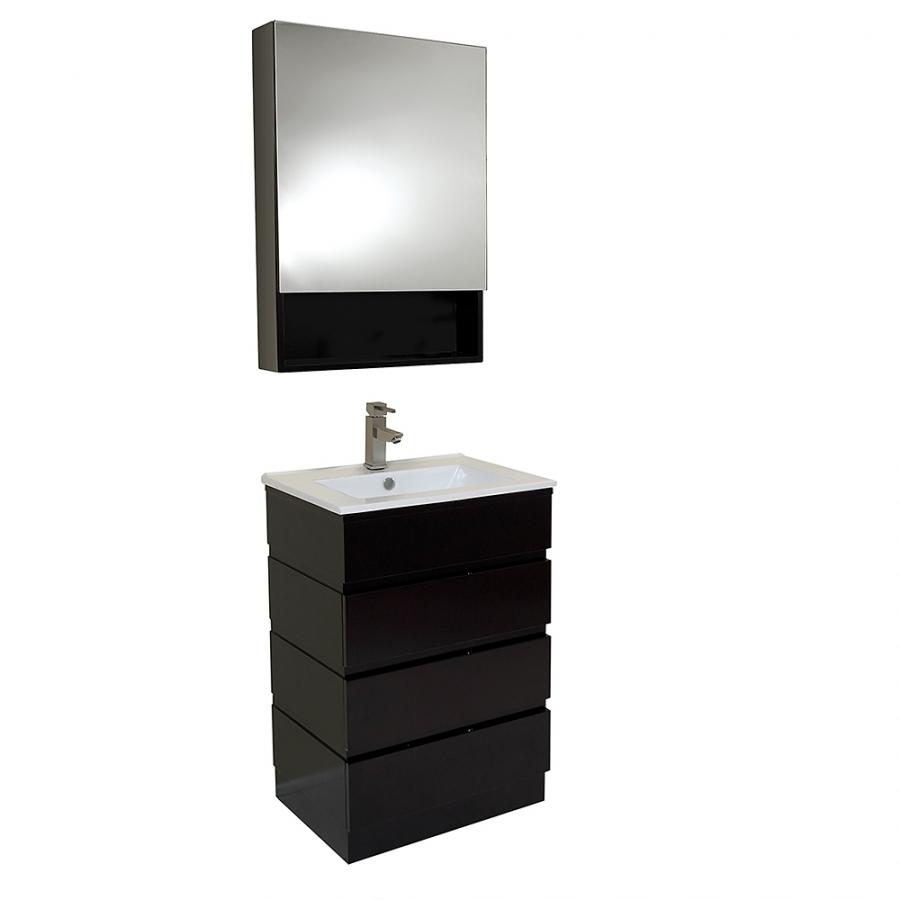 Inch Espresso Modern Bathroom Vanity With Medicine Cabinet Uvfvn6124es23