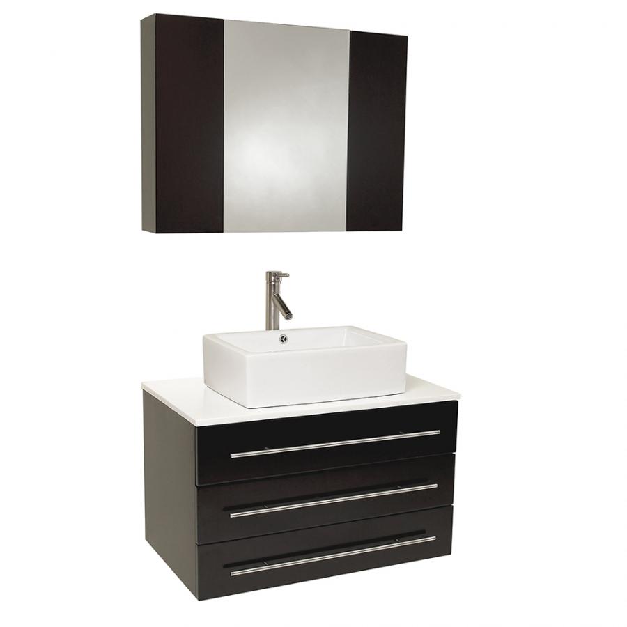 Inch Espresso Modern Bathroom Vanity With Marble Countertop Uvfvn6183es31