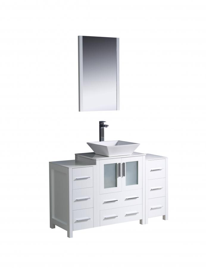 48 Inch Vessel Sink Bathroom Vanity In, What Size Mirror For A 48 Vanity