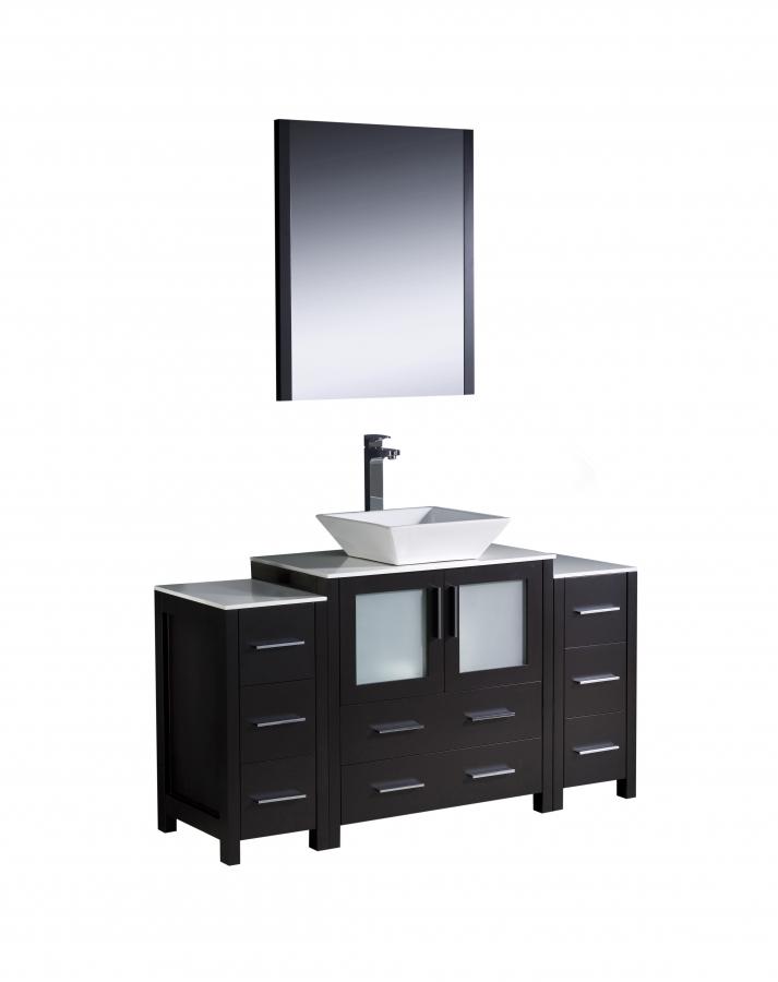 54 inch vessel sink bathroom vanity in espresso