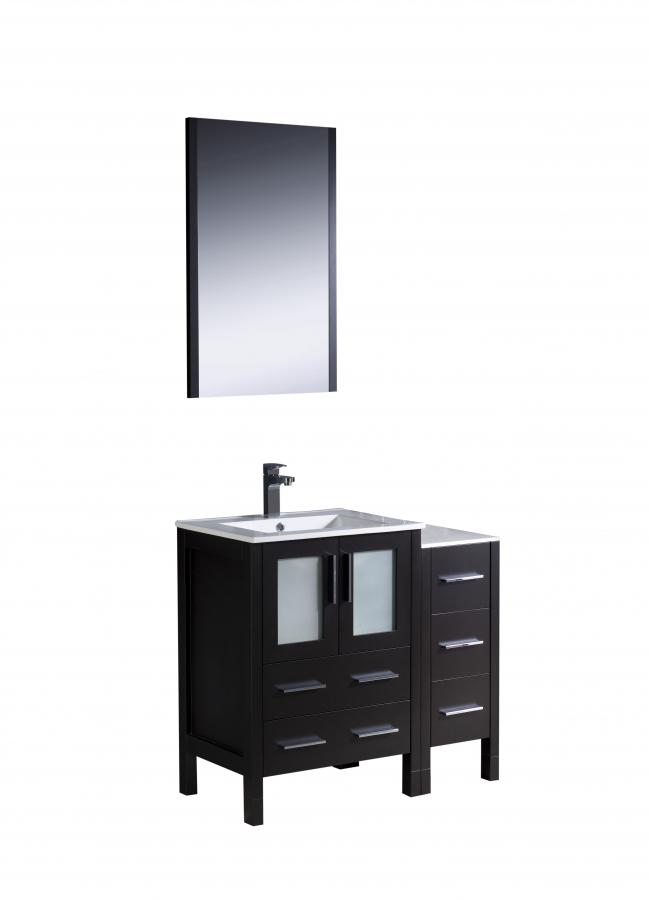 36 Inch Modern Single Sink Vanity In Espresso With Ceramic Top Uvfvn622412esuns36