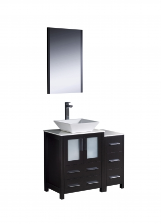36 inch vessel sink bathroom vanity in espresso uvfvn622412esvsl36 for 36 inch espresso bathroom vanity