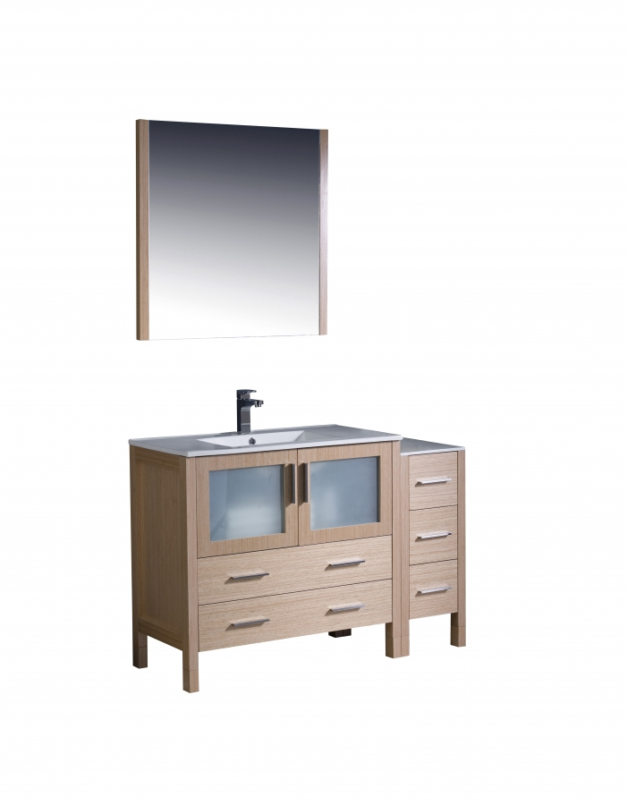48 Vanity Lights For Bathroom : 48 Inch Single Sink Bathroom vanity in Light Oak UVFVN623612LOUNS48