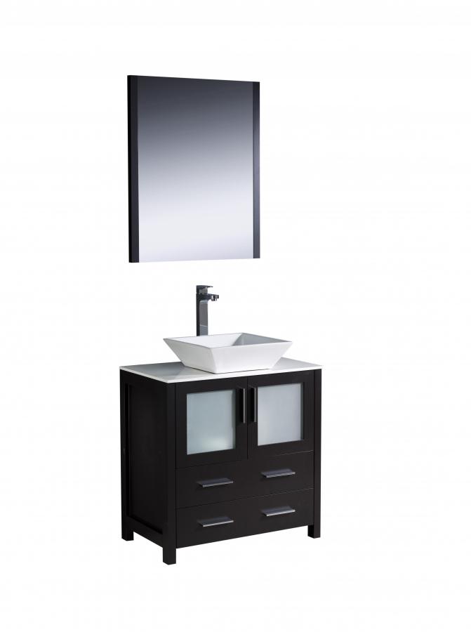 30 Bathroom Vanity With Top: 30 Inch Vessel Sink Bathroom Vanity In Espresso