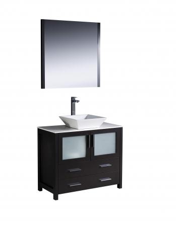 36 inch vessel sink bathroom vanity in espresso uvfvn6236esvsl36 for 36 inch espresso bathroom vanity
