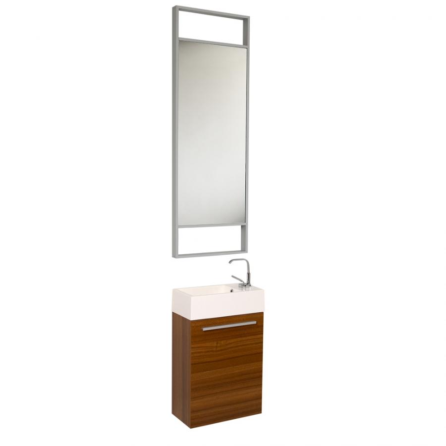 15 5 Inch Small Teak Modern Bathroom Vanity With Tall
