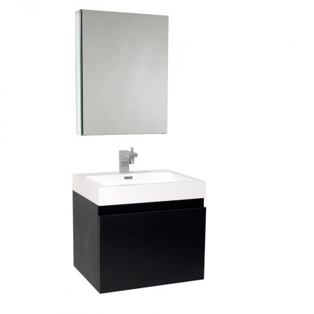 23 5 inch black modern bathroom vanity with medicine