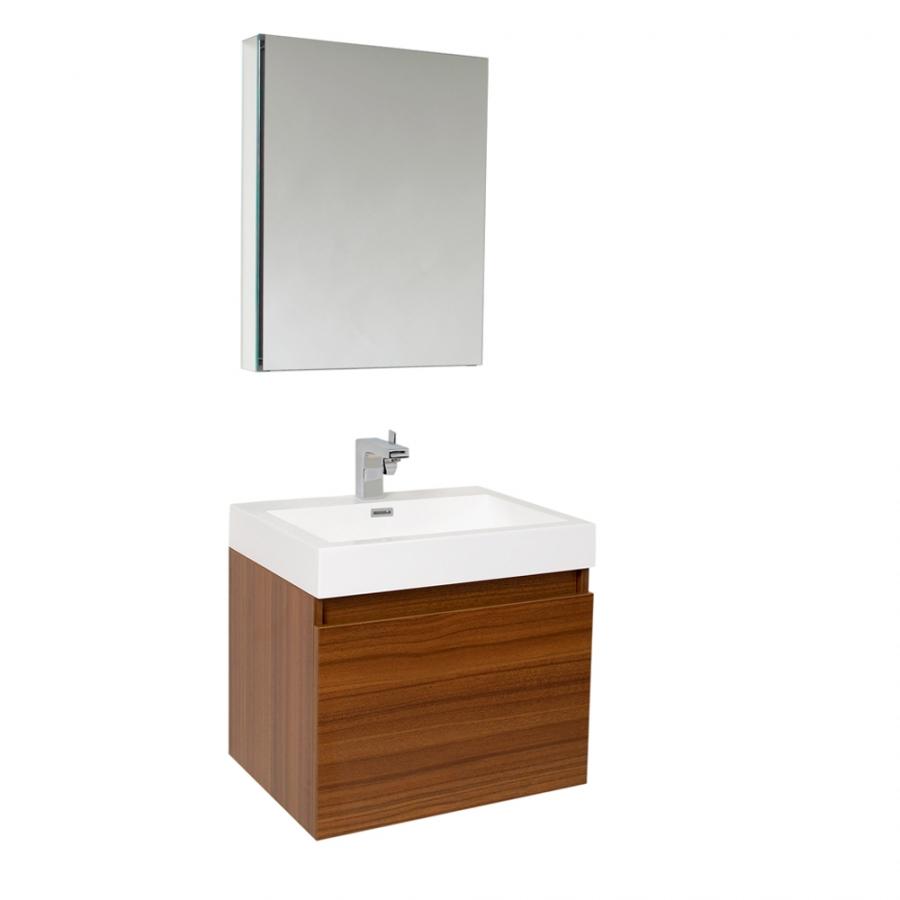 23 5 Inch Teak Modern Bathroom Vanity with Medicine