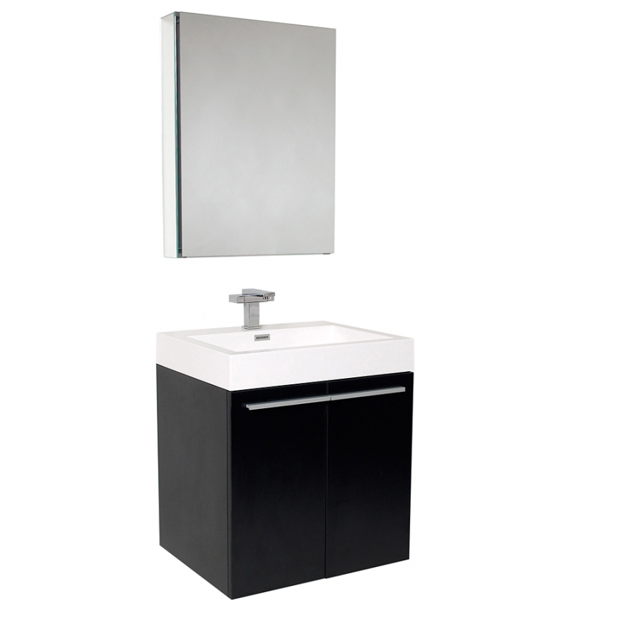 Black bathroom medicine cabinet