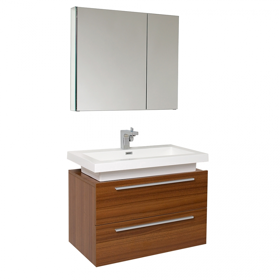 31 25 inch teak modern bathroom vanity with medicine