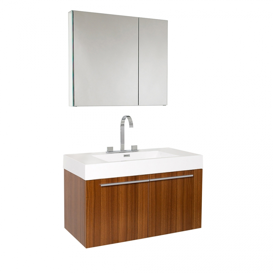 35 5 Inch Teak Modern Bathroom Vanity With Medicine