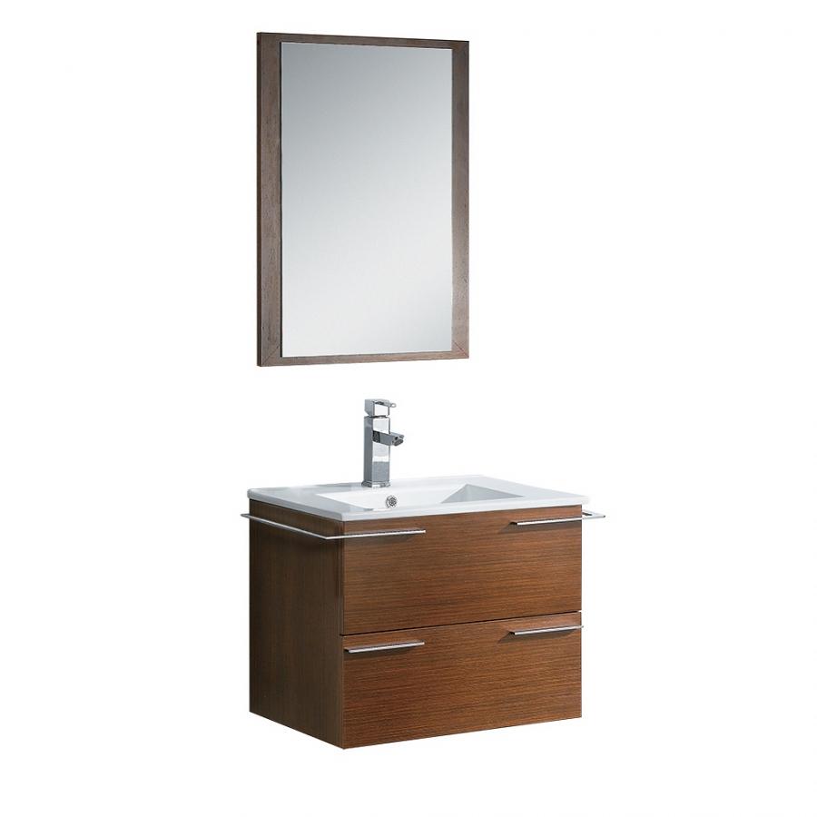24 Inch Single Sink Bath Vanity In Wenge Brown UVFVN8114WG24