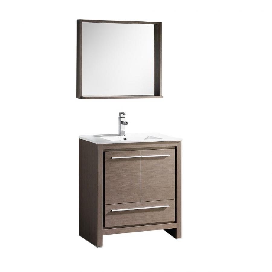 29 5 Inch Gray Oak Single Sink Bathroom
