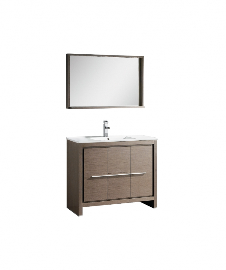 Elegant  Sink Bathroom Vanity In Wenge Brown With Matching Mirror UVFVN8140WG40
