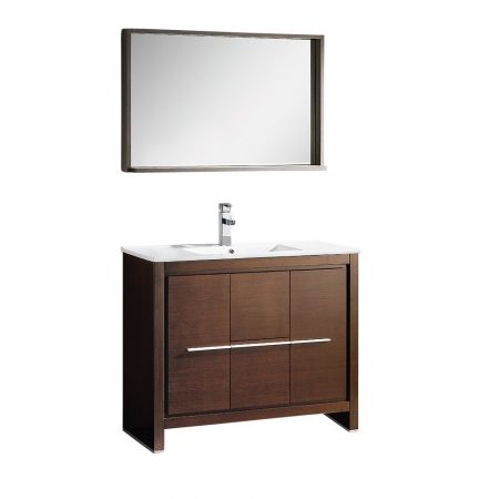 Creative Accos 30 Inch Rustic Bathroom Vanity With Matching Wall Mirror