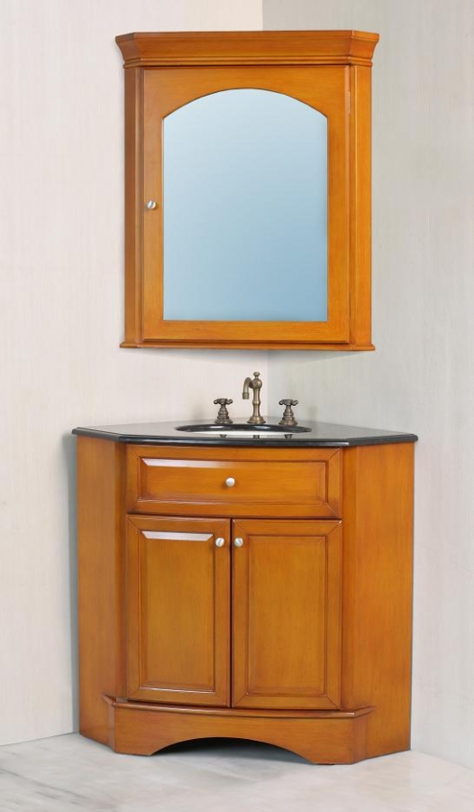 28 Inch Corner Single Sink Vanity With Black Galaxy