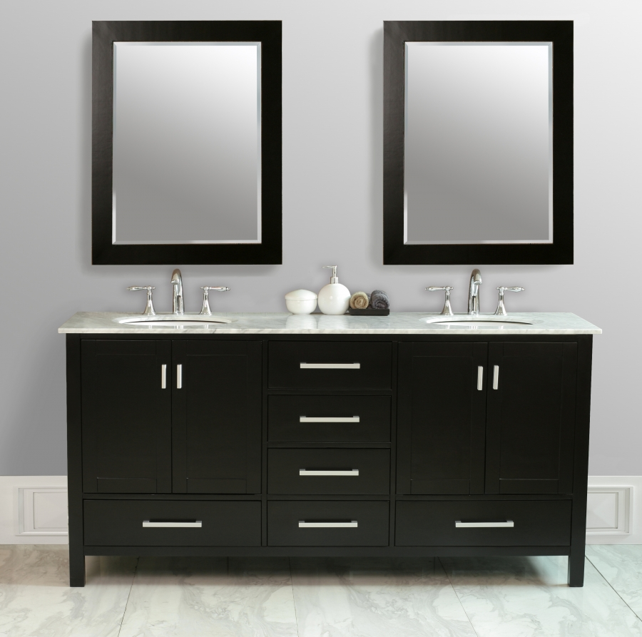 72 double sink bathroom vanity with choice of top uvshgm641272 for Bathroom 72 double vanity