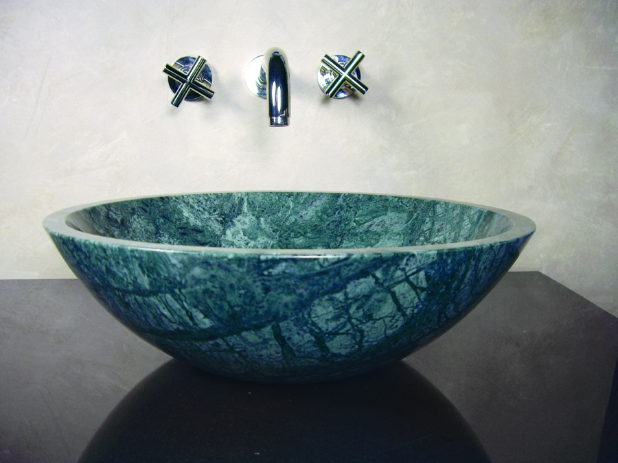 Marble Vessel : Round Green Marble Stone Vessel Sink UVYHDGRANNUS